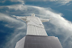 Christ the Redeemer, Rio de Janeiro, Brazil. Christ the Redeemer , corcovado Rio de Janeiro in Brazil. Wide angle view Royalty Free Stock Photo