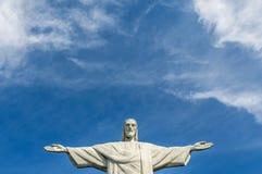 Christ the Redeemer. At Corcovado, Rio De Janeiro Brazil Royalty Free Stock Photo
