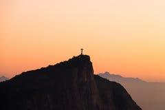 Christ the redeemer - Rio de Janeiro, Brazil. Sunrise Christ the redeemer from dois irmaos mountain - Rio de Janeiro, Brazil Royalty Free Stock Photography
