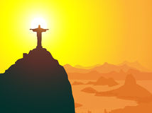 Christ The Redeemer & Rio de Janeiro-. Christ The Redeemer & Rio de Janeiro is a  illustration Royalty Free Stock Images