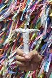 Christ the Redeemer Souvenir Brazilian Wish Ribbons Stock Images