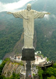 Christ Redeemer Statue. Beautiful aerial view of the most famous Brazil´s landmark Royalty Free Stock Photos