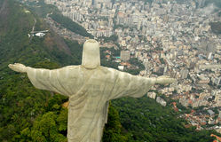 Christ Redeemer Statue. Very diferent point of view Stock Image