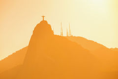 Christ Redeemer statue abstract shot royalty free stock image