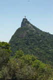 Christ the Redeemer statue atop Tijuca Forest Royalty Free Stock Photos