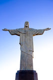 Christ the Redeemer statue corcovado rio de janeiro brazil Royalty Free Stock Photo
