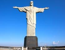 Christ the Redeemer statue corcovado rio de janeiro brazil Royalty Free Stock Photos
