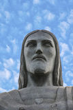 The Christ the Redeemer statue in detail Royalty Free Stock Images