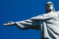 Christ the Redeemer statue in Rio de Janeiro in Brazil.  Stock Photo
