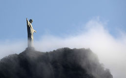 Christ the Redeemer. Statue of Christ the Redeemer in Rio de Janeiro, Brazil Stock Images