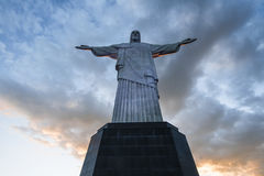 Christ the Redeemer statue, top of Corcovado mountain Stock Image