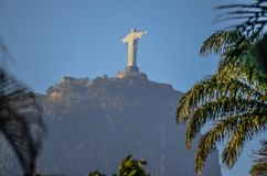 Christ The Redeemer Statue view stock photos