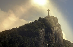 Christ the Redeemer in the sun,  Rio de Janeiro Stock Images