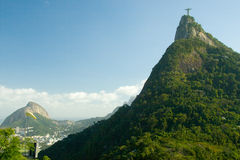 Christ the Redeemer on Corcovado Mountain Stock Photos