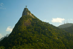 Christ the Redeemer on Corcovado Mountain Stock Images