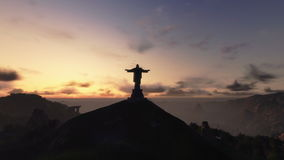 Christ the Redemeer at Sunrise, Rio de Janeiro, stock footage Stock Photography