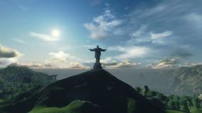 Christ the Redemeer Time Lapse Sunset, Rio de Janeiro, stock footage Stock Photo