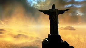 Christ the Reedemer. Famous statue of the Christ the Reedemer, in Rio de Janeiro, Brazil Royalty Free Stock Photos