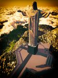 Christ the Reedemer. Famous statue of the Christ the Reedemer, in Rio de Janeiro, Brazil Stock Photo