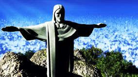 Christ the Reedemer. Famous statue of the Christ the Reedemer, in Rio de Janeiro, Brazil Stock Images