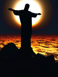 Christ the Reedemer, in Rio de Janeiro Royalty Free Stock Images