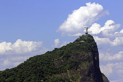 Christ the Reedemer Statue. Corcovado Christ the Reedemer Statue in Rio de Janeiro Royalty Free Stock Photography