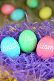Christ is Risen Easter eggs Stock Photos