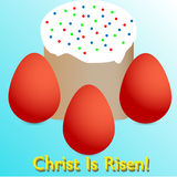 Christ Is Risen!. Orthodox holiday, all with a holiday Stock Photography