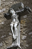 Christ  in the ruined portuguese Carmo Convent Stock Photography