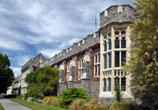 Christ's College, Christchurch, New Zealand. The Christ's College dining hall building from Rolleston Avenue Stock Photography