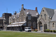 Christ's College Earthquake Repairs, Christchurch Royalty Free Stock Photo