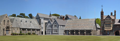 Christ's College Panorama, Christchurch. Panorama of the buildings of Christ's College in Christchurch, New Zealand Royalty Free Stock Photography