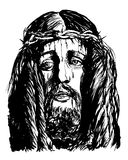 Christ 's face Stock Images