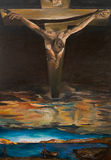 Christ of Saint John of the Cross, replica. Replica of one of Salvador Dali's painting, Christ of Saint John of the Cross, oil painting Stock Photography