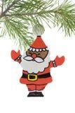 christ santa покрашенный рукой деревянный Стоковая Фотография