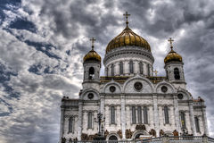 Christ the Savior Cathedral on the background of the beautiful sky Stock Images