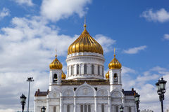 Christ the Savior Cathedral (Khram Khrista Spasitelya)‎ at Moscow, Russia Stock Photos