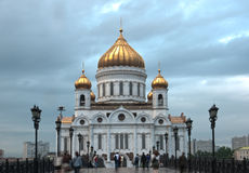 Christ the Savior Cathedral in Moscow. The city`s attractions. Architecture. Royalty Free Stock Images