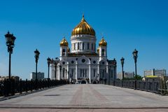 Christ the Savior Cathedral in Moscow royalty free stock image