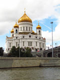 Christ the Savior Cathedral. The photo shows one of the sights of Moscow - Christ the Saviour Cathedral stock images