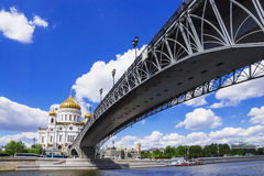 Christ the Savior Cathedral view from the Patriarchal bridge Stock Photography