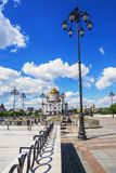 Christ the Savior Cathedral view from the Patriarchal bridge Stock Image