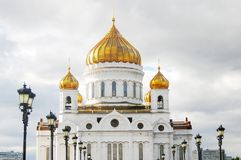 Christ the Savior Church in Moscow, Russia Royalty Free Stock Photos