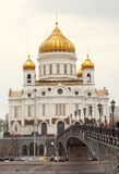 Christ the Savior Church in Moscow, Russia Stock Images