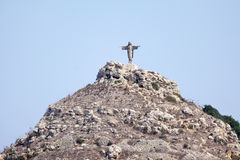 Christ the saviour. A statue of christ the saviour in gozo, part of the maltese ilsands on a hill top Stock Photography