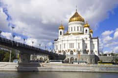 Christ the Saviour Cathedral. In Moscow, Russia Stock Photos