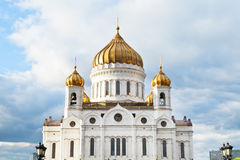 Christ the Saviour Cathedral under cloudy blue sky Royalty Free Stock Images