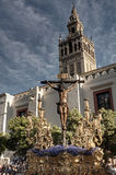 Christ of souls, Holy Week in Seville Stock Image