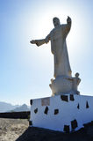 Christ statue stock photo