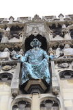 Christ statue Canterbury Cathedral gate Royalty Free Stock Image